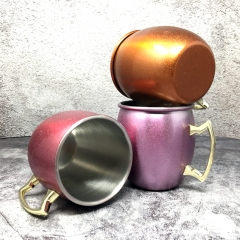 Stainless Steel Glitter Surface Moscow Mule Mugs Copper Mugs