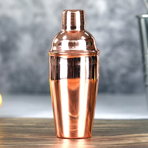 550ml Stainless Steel Copper Plated Cocktail Shaker