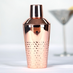 550ml Copper Plated Hammered Cocktail Shaker