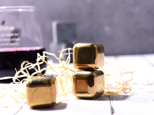 SS304 Golden plated Whiskey Stone Ice Cube