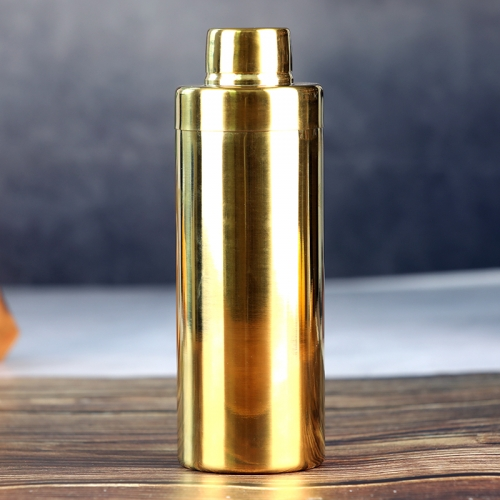 550ml Cylinder Golden Plated Cocktail Shaker
