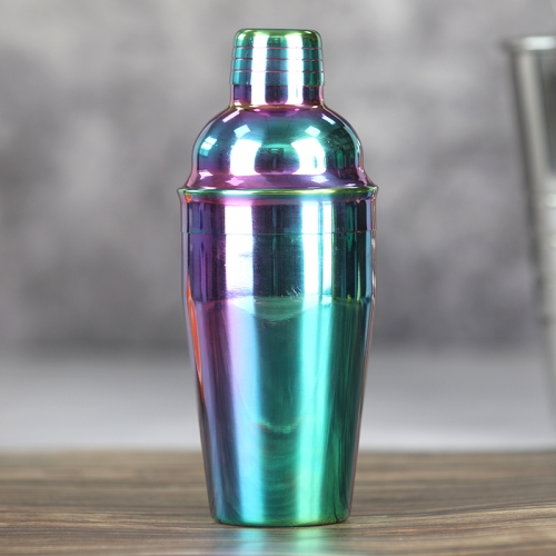 550ml Stainless Steel Rainbow Plated Cocktail Shaker