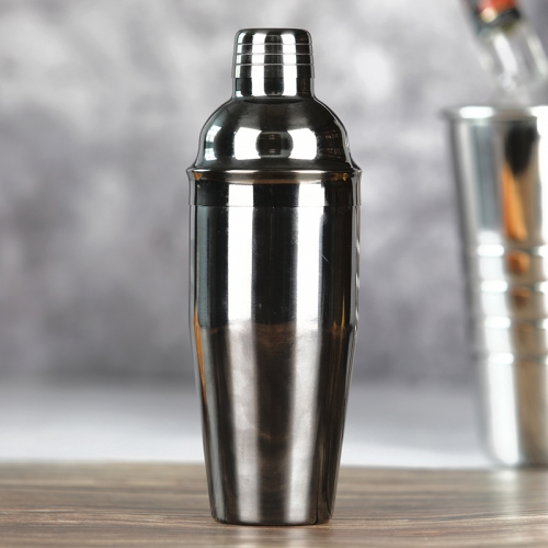 750ml Stainless Steel Gun Black Plated Cocktail Shaker