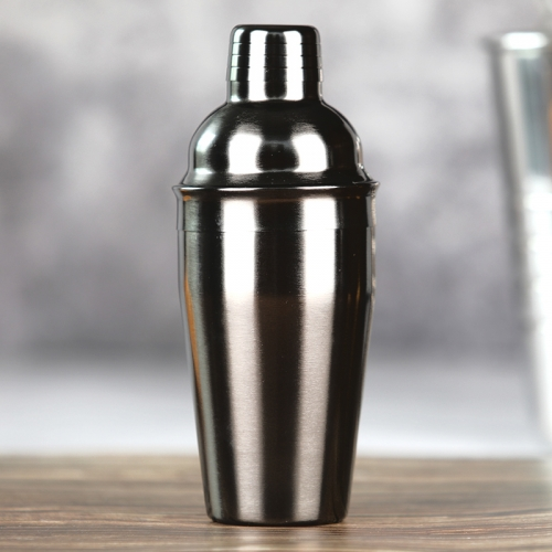550ml Stainless Steel Gun Black Plated Cocktail Shaker