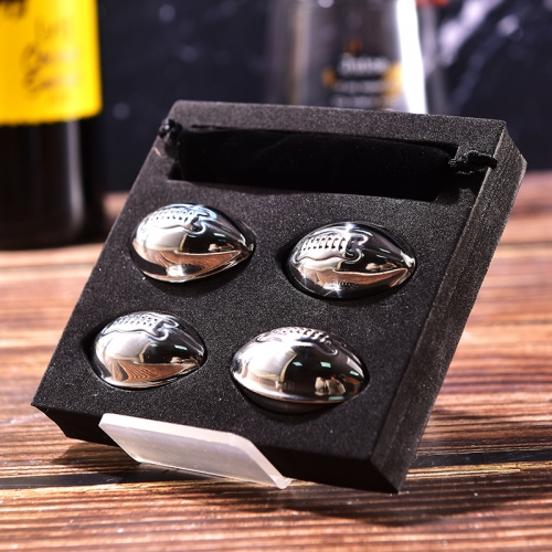 SS304 Football Whiskey Stone Ice Cube