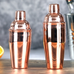 750ml Stainless Steel Copper Plated Cocktail Shaker