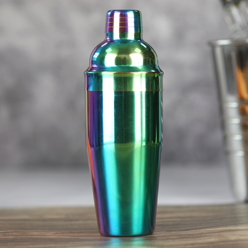 750ml Stainless Steel Rainbow Plated Cocktail Shaker