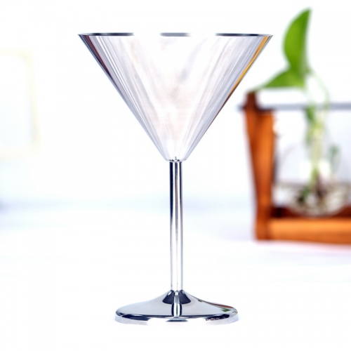 300ml Stainless Steel Martini Cup Martini Glass Goblet