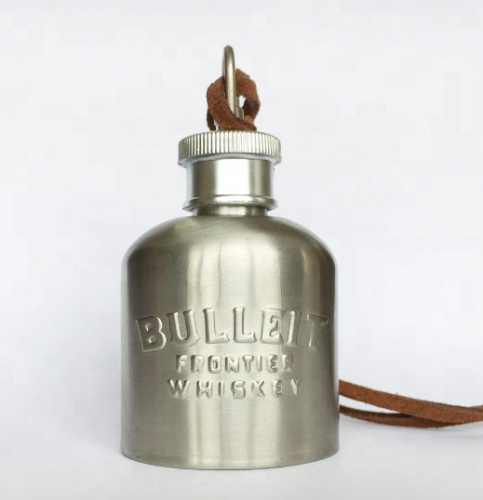 1oz Bottle Shaped Stainless Steel Mini Hip Flask