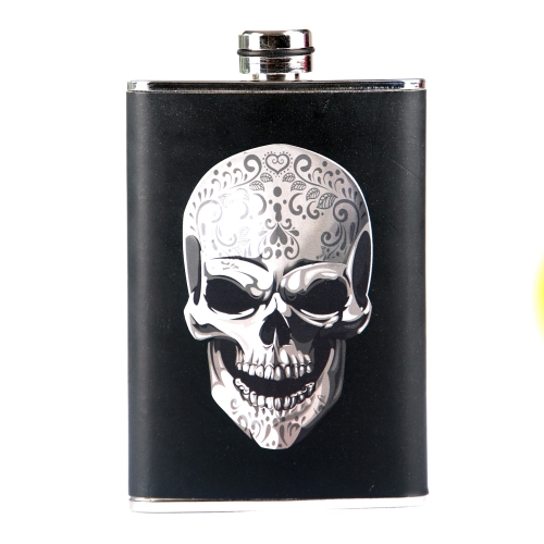 8oz PU Wrapped Stainless Steel Hip Flask