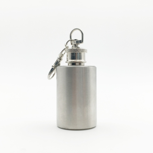 1oz Cylindrical Stainless Steel Mini Hip Flask