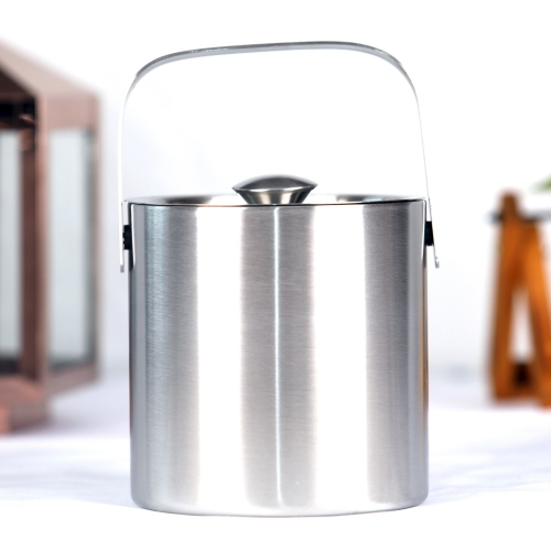 1500ml Double Wall Stainless Steel Ice Bucket With Lid