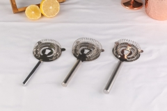 Stainless Steel Round Handle Hawthorne Strainer