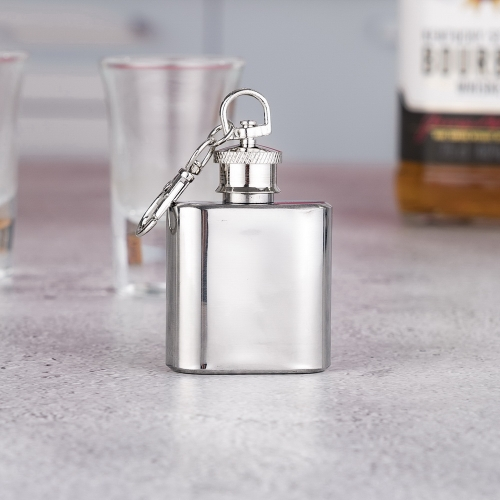 1oz Stainless Steel Mini Hip Flask