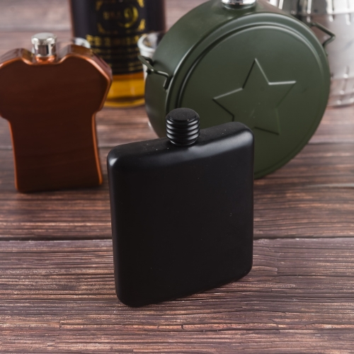 6oz Painted Stainless Steel Premium Hip Flask