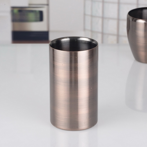 1000ml Electroplated Double Wall Stainless Steel Ice Bucket 1L Ice Bucket