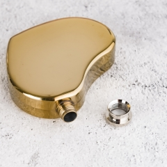 5oz Golden Plated Stainless Steel Hip Flask Heart Flask Love Flask