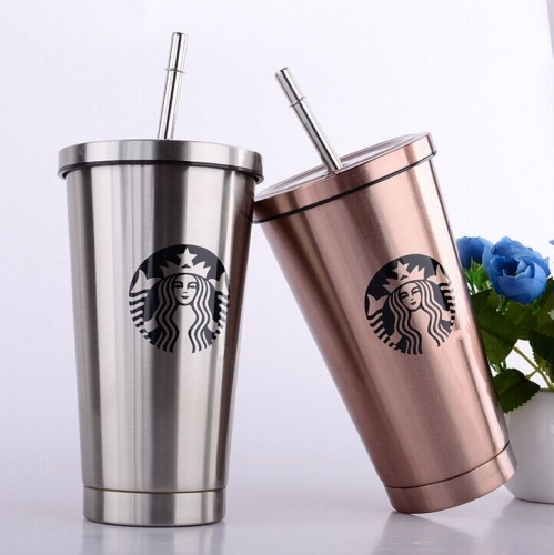 Starbucks Stainless Steel Suction Cup Goddess Insulation Cup Coffee Cup 16 colors Water Bottle