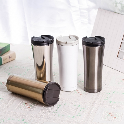 500ml Hot Quality Double Wall Stainless Steel Vacuum Flasks Car Thermo Cup Coffee Tea Travel Mug