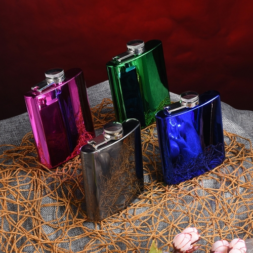 6oz Hip Flask Electroplating Hip Flask 1-Color Hip Flask