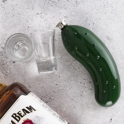 5.5oz Cucumber Flask Vegetable Hip Flask