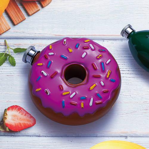 9oz Donut Flask Food Hip Flask