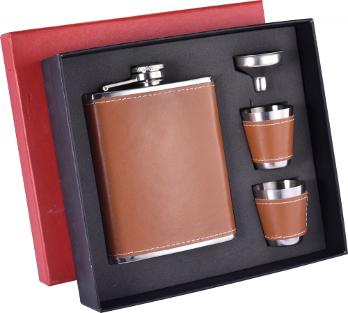 8oz Hip Flask Set With Gift Box Hip Flask Gift Set