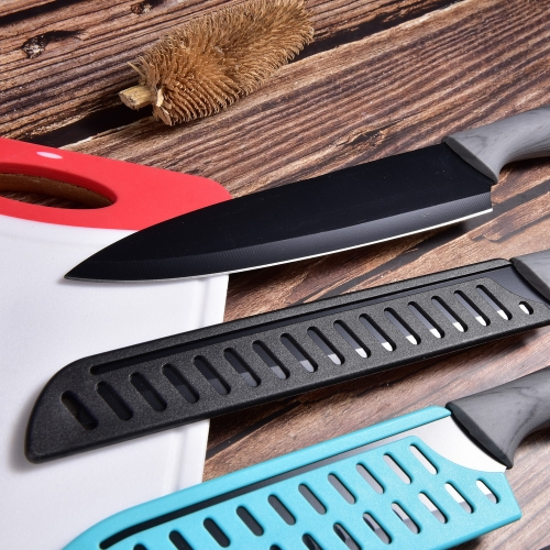 Non-stick Coating Kitchen Knife With Marble Printed Handle High Quality Kitchen Knife Set Kitchen Knives