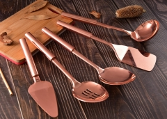 Copper Plated Stainless Steel Hollow Handle Kitchen Utensil Set