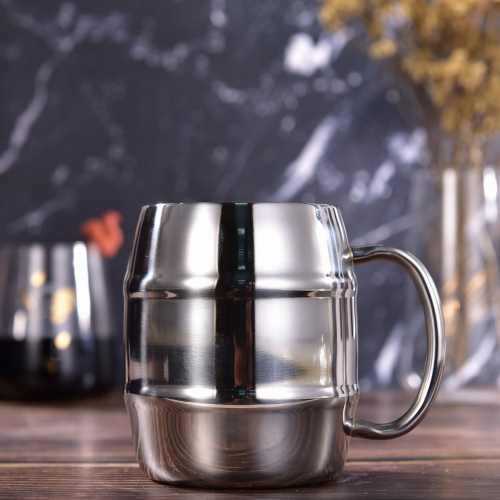 300ml Stainless Steel Beer Mug Double Wall Beer Mug