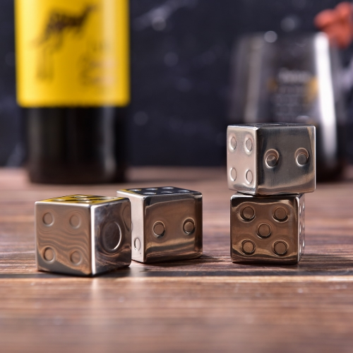 SS304 Dice Whiskey Stone Dice Shape Stainless Steel Whisky Stone