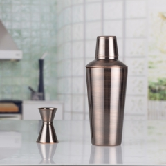 1000ml Bronze Plated Cocktail Shaker Large Capacity Cocktail Shaker