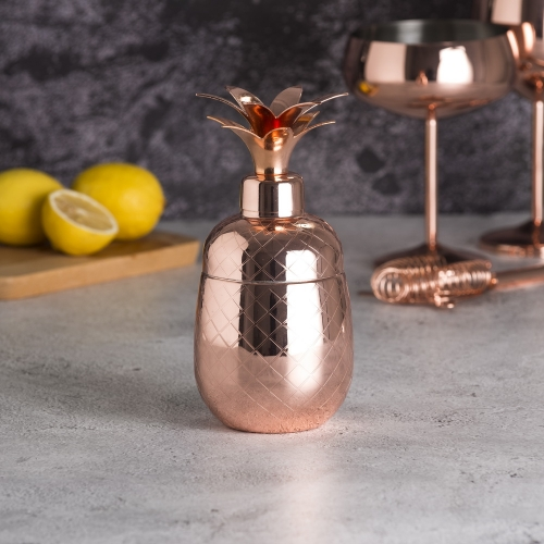 550ml Copper Plated Pineapple Cocktail Shaker