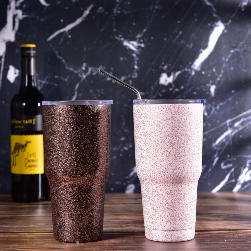 900ml 30oz Glitter Painted Beer Cup Drinking Thermos Coffee Cup