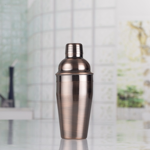 550ml Stainless Steel Bronze Plated Cocktail Shaker