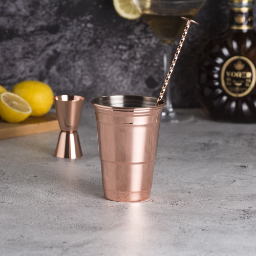 500ml Party Cup Stainless Steel Julep Cup Copper Plated