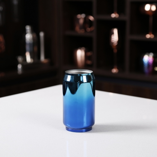300ml Blue Coke Cup Double Wall Stainless Steel Cup Coke Can Cup