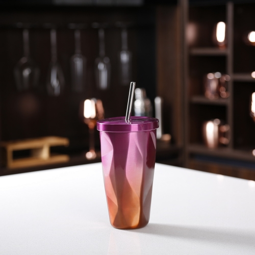 500ML Gradient Color Stainless Steel Coffee Drink Tea Mug