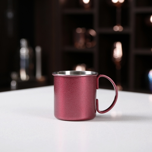 450ml Glitter Painted Copper Moscow Mule Mug Cylindrical Mug
