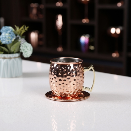 450ml Hammered Copper Electroplated Moscow Mule Mug Hammered Copper Mug