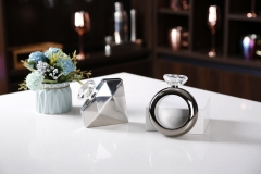 3.5oz Hip Flask Bracelet Hip Flask Bracelet Flask Diamond Ring Flask With Diamond Lid