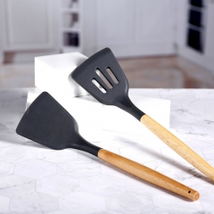 Wooden Handle Silicone Kitchen Utensil Set