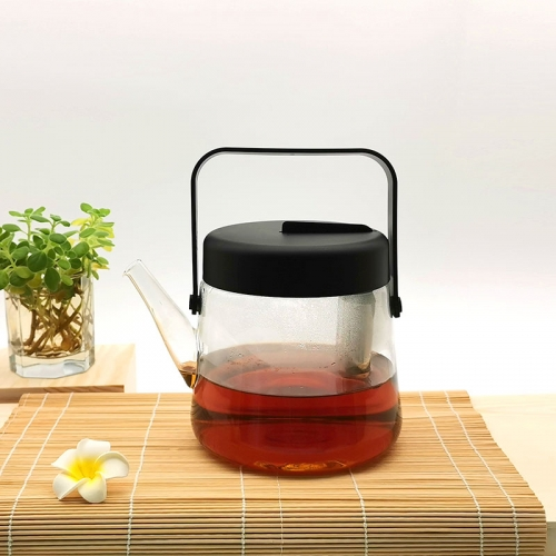 Borosilicate Glass Tea Pot 1200ml Large Tea Pot Reddot Award