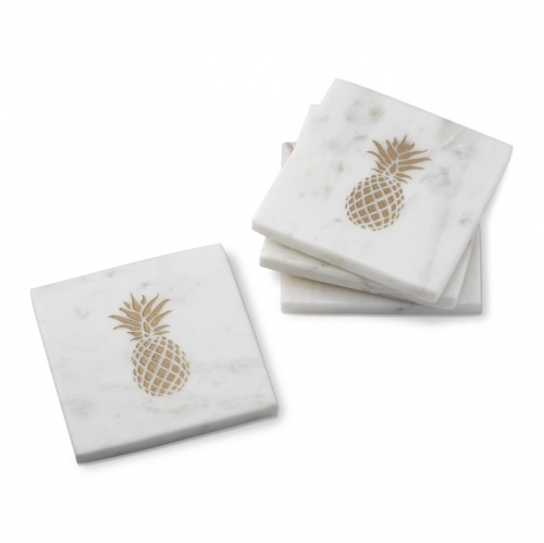 Marble Coaster With Pineapple Pattern Customized Marble Coaster