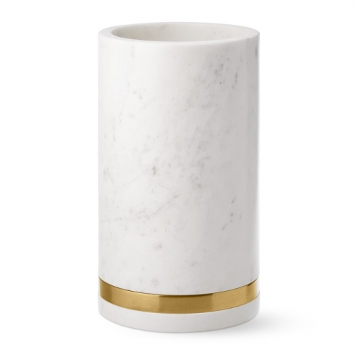 1000ml Marble Ice Bucket Ice Wine Barrel With Golden Ring