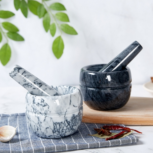 Marble Pestle and Mortar Kitchenware Masher Mortar and Pestle Marble