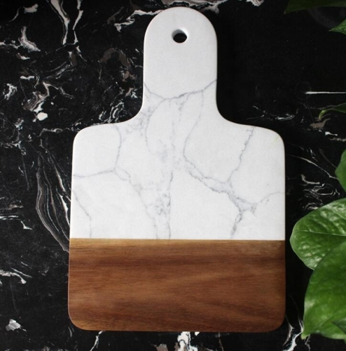 Handle Marble and Wood Cutting Marble Board for Kitchen and Home