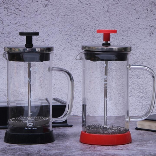 1000ml Glass French Press Coffee Maker With Plastic Base