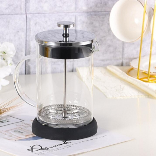 1000ml Glass French Press Coffee Maker With Silicone Base