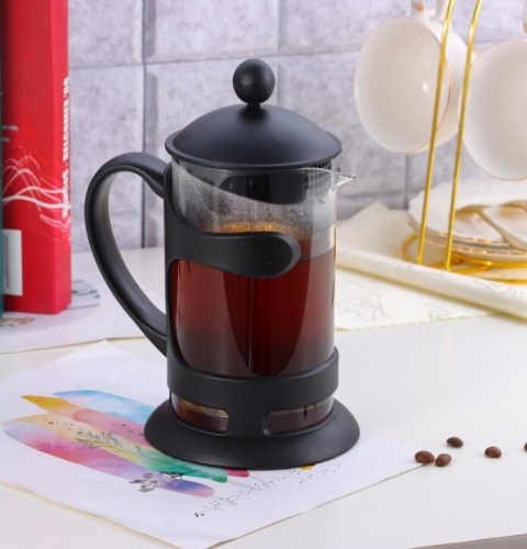 1000ml Embracing French Press Coffee Maker With Plastic Cover